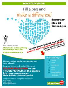 Donation Day May 21 10am-2pm